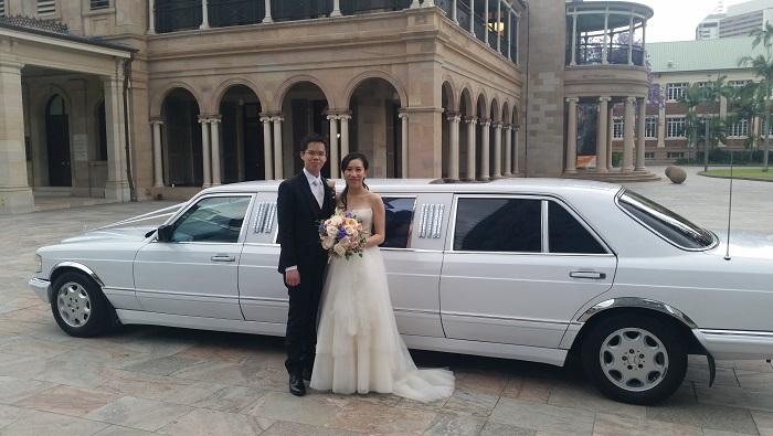 Mercedes Wedding car Hire Brisbane R